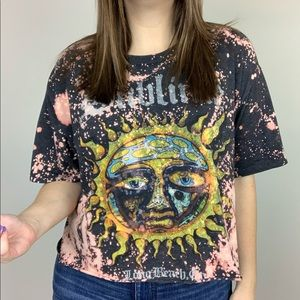 Tops - Sublime | Bleached Graphic Band Tee Long Beach CA